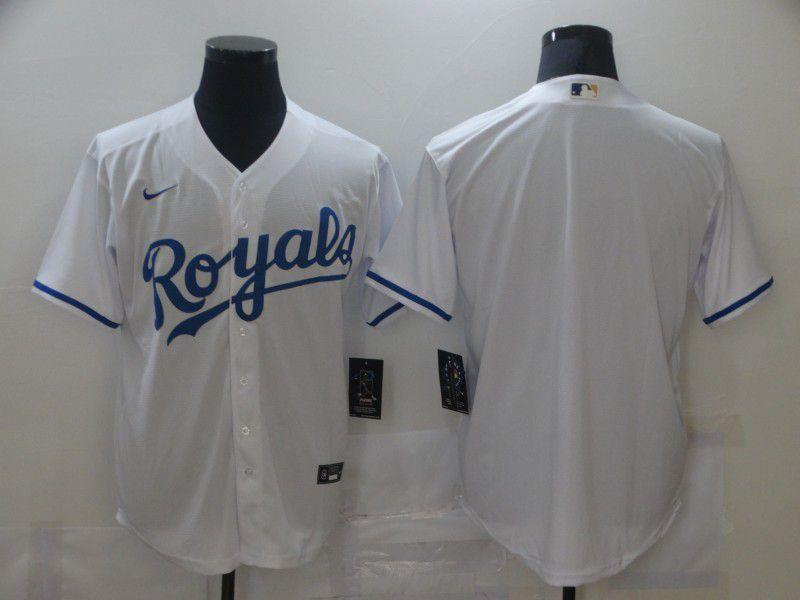 Men Kansas City Royals Blank White Game Nike MLB Jerseys