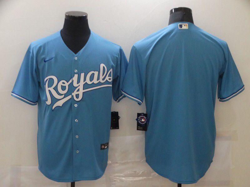 Men Kansas City Royals Blank Light Blue Game Nike MLB Jerseys