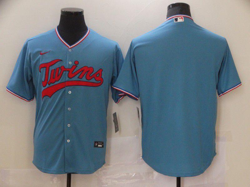 Men Minnesota Twins Blank Light blue Game Nike MLB Jerseys