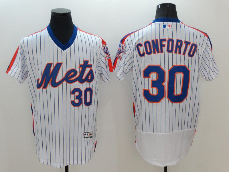 Men New York Mets 30 Conforto White Elite MLB Jerseys
