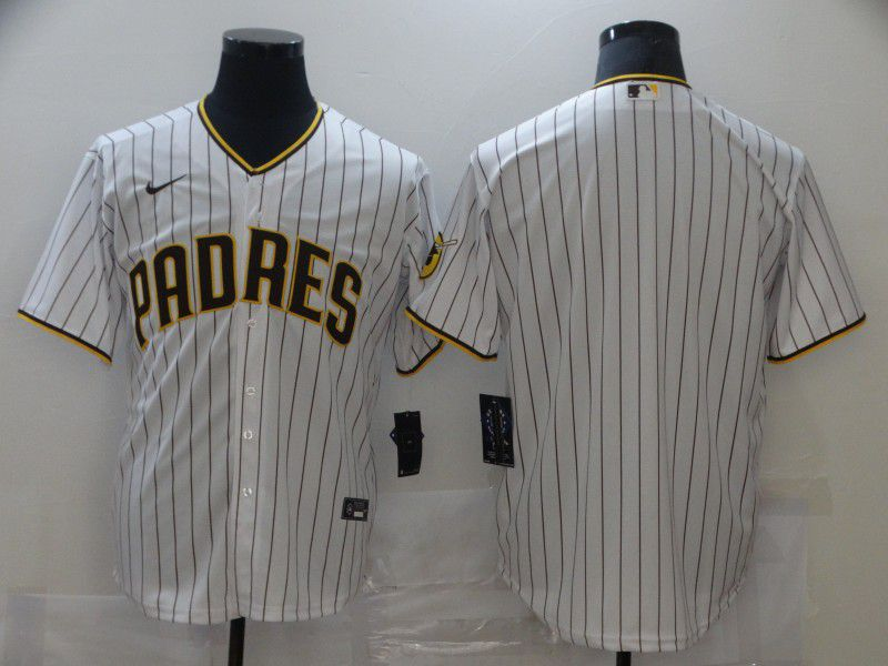 Men San Diego Padres Blank White Game Nike MLB Jerseys