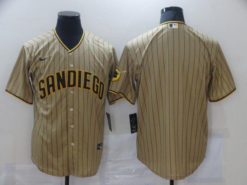 Men San Diego Padres Blank brown stripe Game Nike MLB Jerseys
