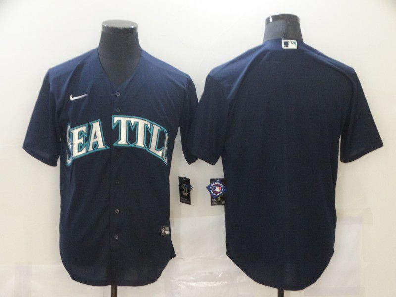 Men Seattle Mariners Blank Blue Game Nike MLB Jerseys
