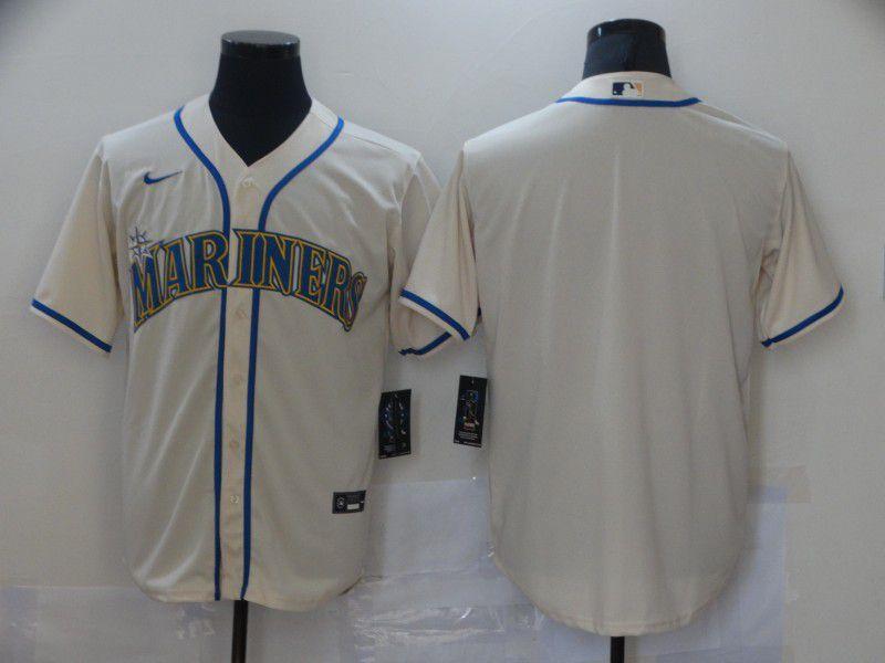 Men Seattle Mariners Blank Cream Game Nike MLB Jerseys