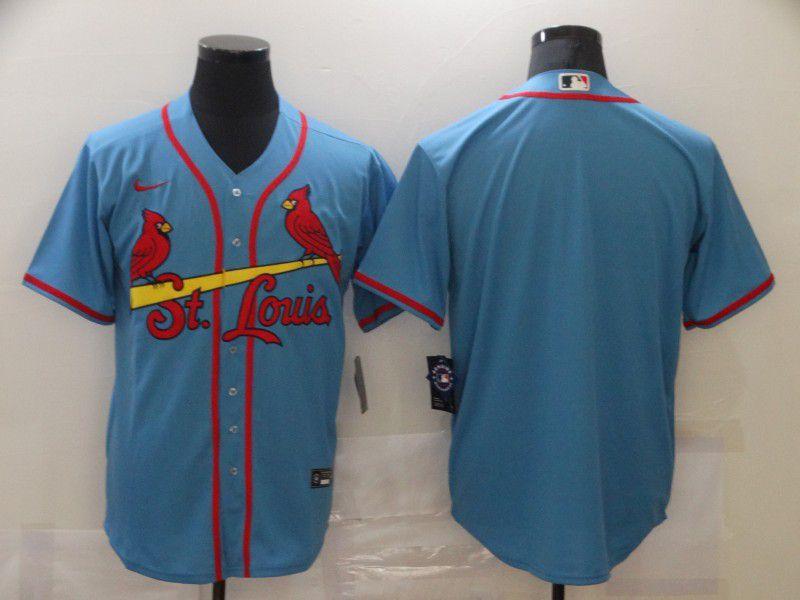 Men St.Louis Cardinals Blank Blue Game Nike MLB Jerseys