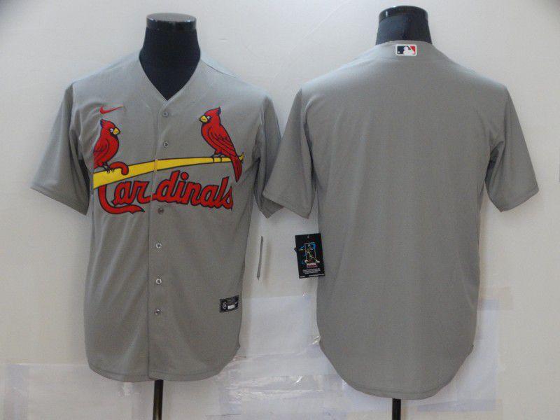 Men St.Louis Cardinals Blank Grey Game Nike MLB Jerseys