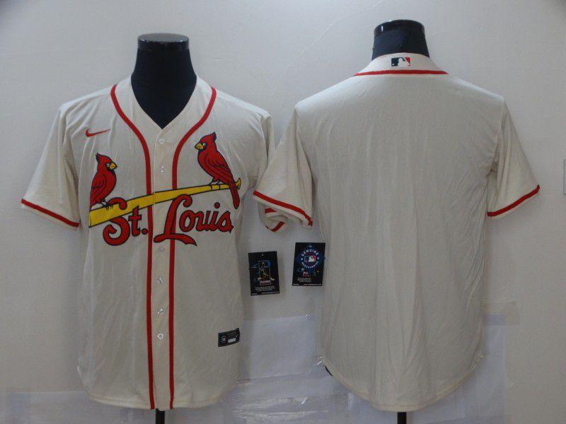 Men St.Louis Cardinals Blank Cream Game Nike MLB Jerseys