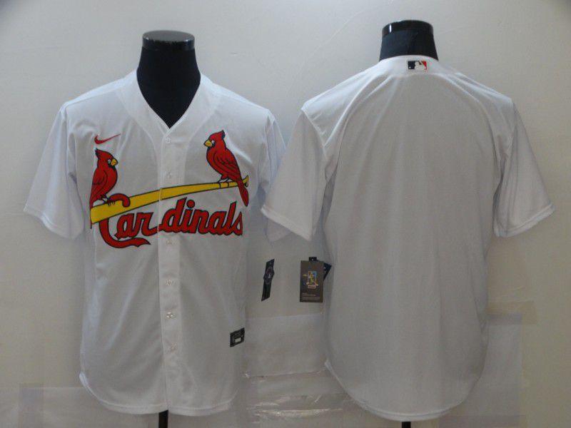 Men St.Louis Cardinals Blank White Game Nike MLB Jerseys