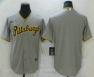 Men's Pittsburgh Pirates Blank Grey Stitched MLB Cool Base Nike Jersey