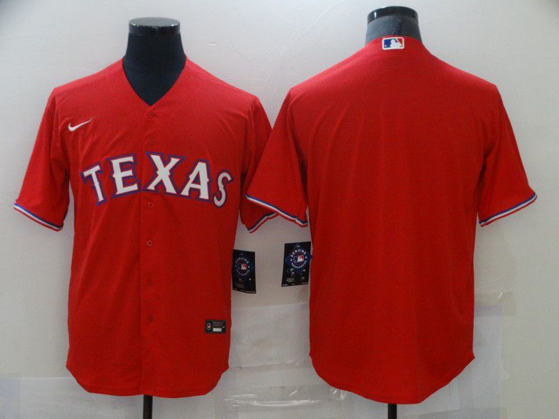 Men's Texas Rangers Blank Red Stitched MLB Cool Base Nike Jersey