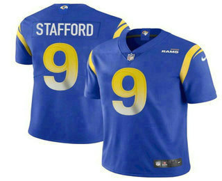 Men's Los Angeles Rams #9 Matthew Stafford Royal Blue 2021 NEW Vapor Untouchable Stitched NFL Nike Limited Jersey