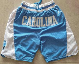 Men's North Carolina Tar Heels Light Blue College Basketball Brand Jordan Just Don Swingman Shorts