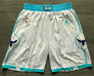 Men's Charlotte Hornets White 2021 Brand Jordan Swingman Stitched NBA Shorts