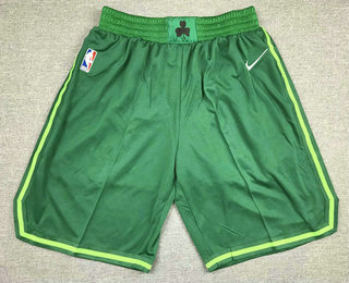 Men's Boston Celtics Green Nike Swingman 2021 Earned Edition Stitched Shorts