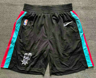 Men's San Antonio Spurs Black 2021 Nike City Edition Swingman Stitched NBA Shorts