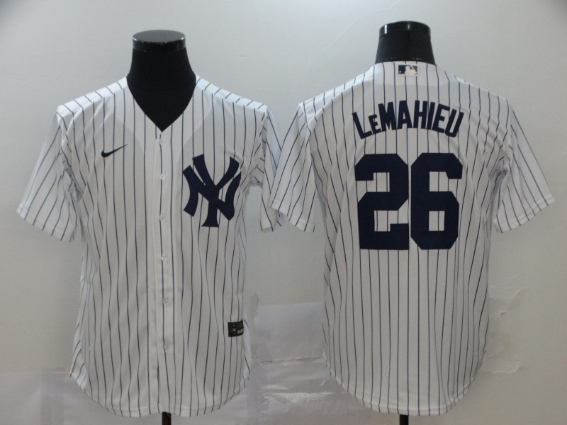 Toddler New York Yankees #26 DJ LeMahieu White Home Stitched MLB Cool Base Nike Jersey