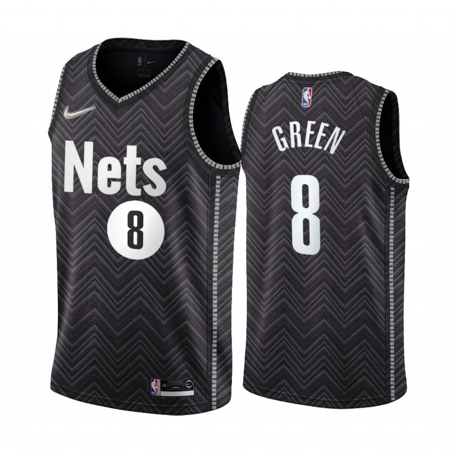 Brooklyn Nets #8 Jeff Green Black NBA Swingman 2020-21 Earned Edition Jersey