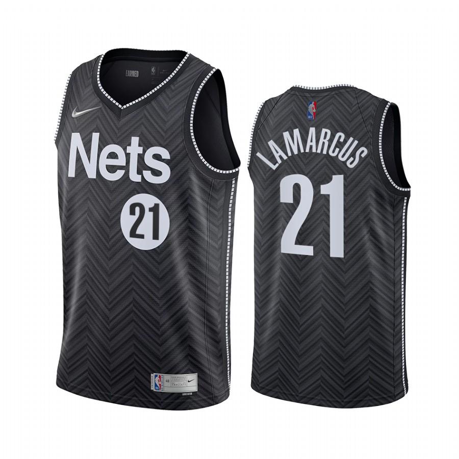 Brooklyn Nets #21 LaMarcus Aldridge Black NBA Swingman 2020-21 Earned Edition Jersey