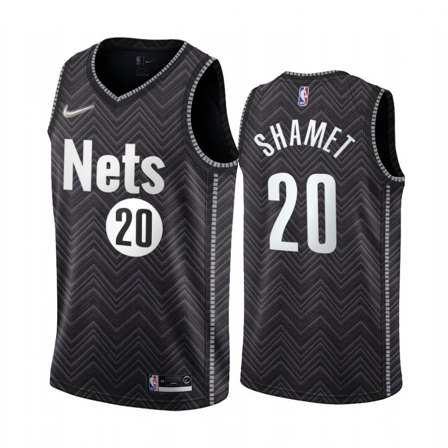 Brooklyn Nets #20 Landry Shamet Black NBA Swingman 2020-21 Earned Edition Jersey