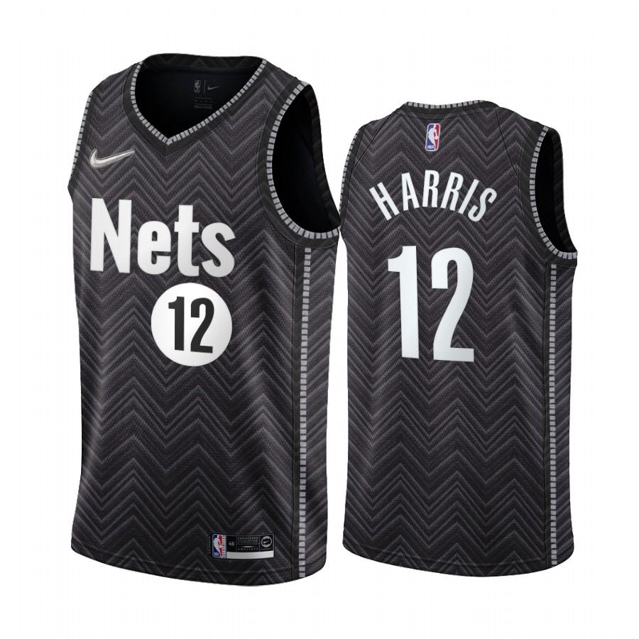 Brooklyn Nets #12 Joe Harris Black NBA Swingman 2020-21 Earned Edition Jersey
