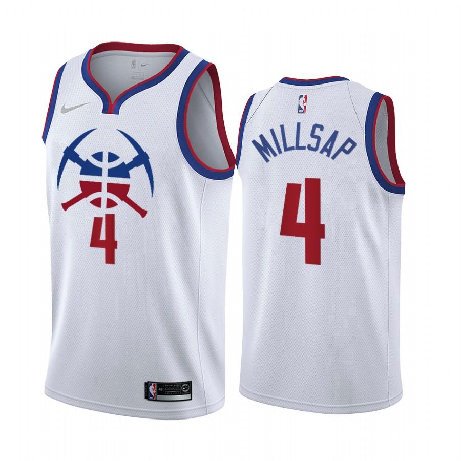 Denver Nuggets #4 Paul Millsap White NBA Swingman 2020-21 Earned Edition Jersey