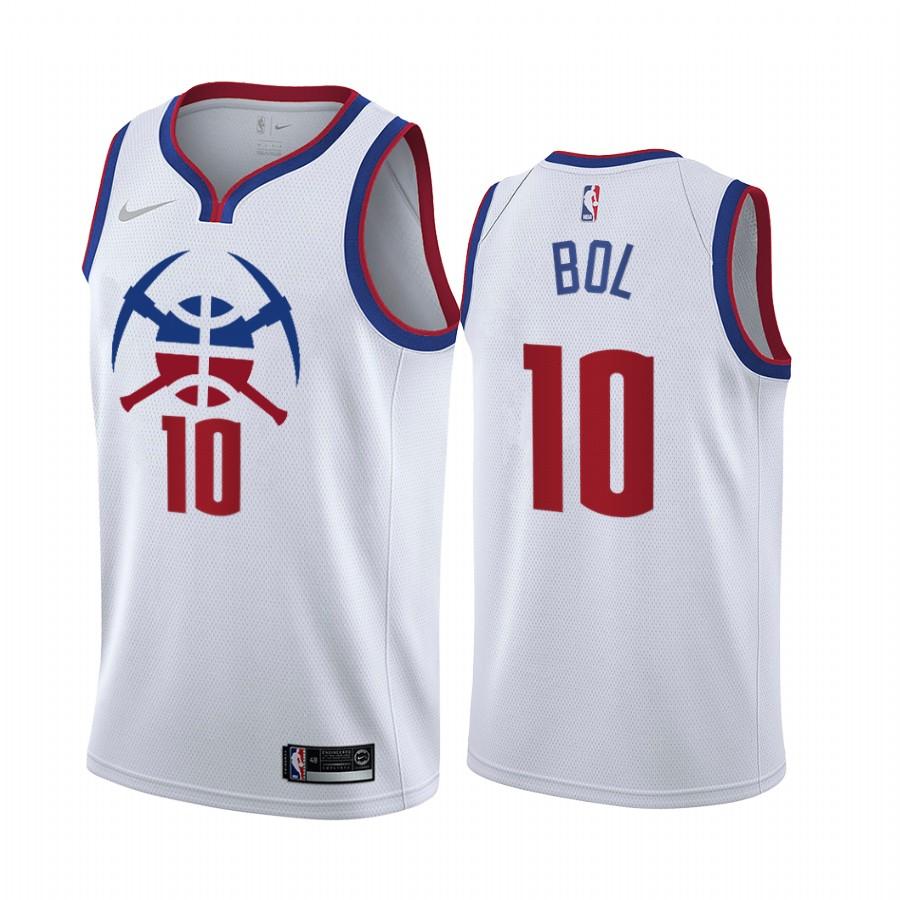 Denver Nuggets #10 Bol Bol White NBA Swingman 2020-21 Earned Edition Jersey
