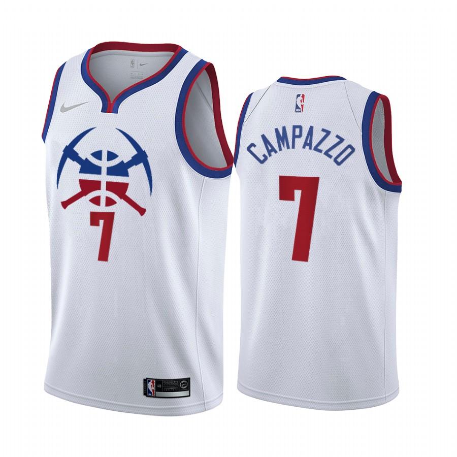Denver Nuggets #7 Facundo Campazzo White NBA Swingman 2020-21 Earned Edition Jersey