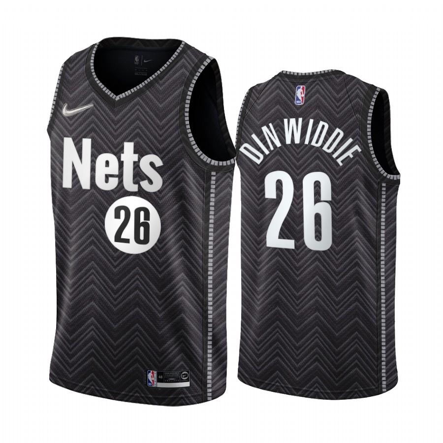 Brooklyn Nets #26 Spencer Dinwiddie Black NBA Swingman 2020-21 Earned Edition Jersey