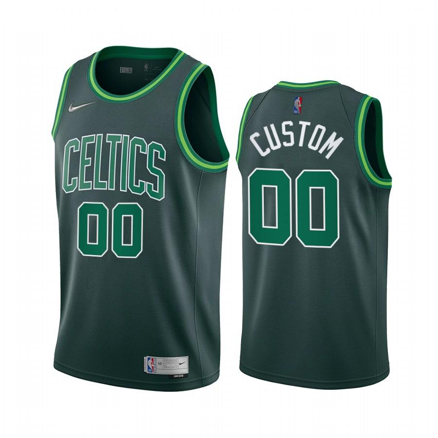 Boston Celtics Personalized Green NBA Swingman 2020-21 Earned Edition Jersey