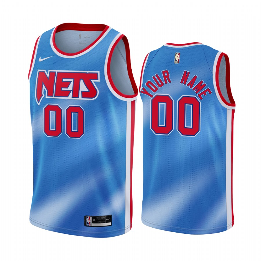 Men's Nike Nets Personalized Blue NBA Swingman Classic Edition Jersey