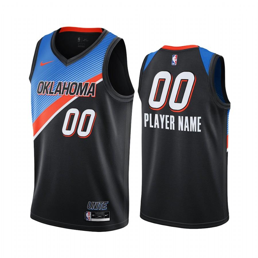 Nike Thunder Personalized Black NBA Swingman 2020-21 City Edition Jersey
