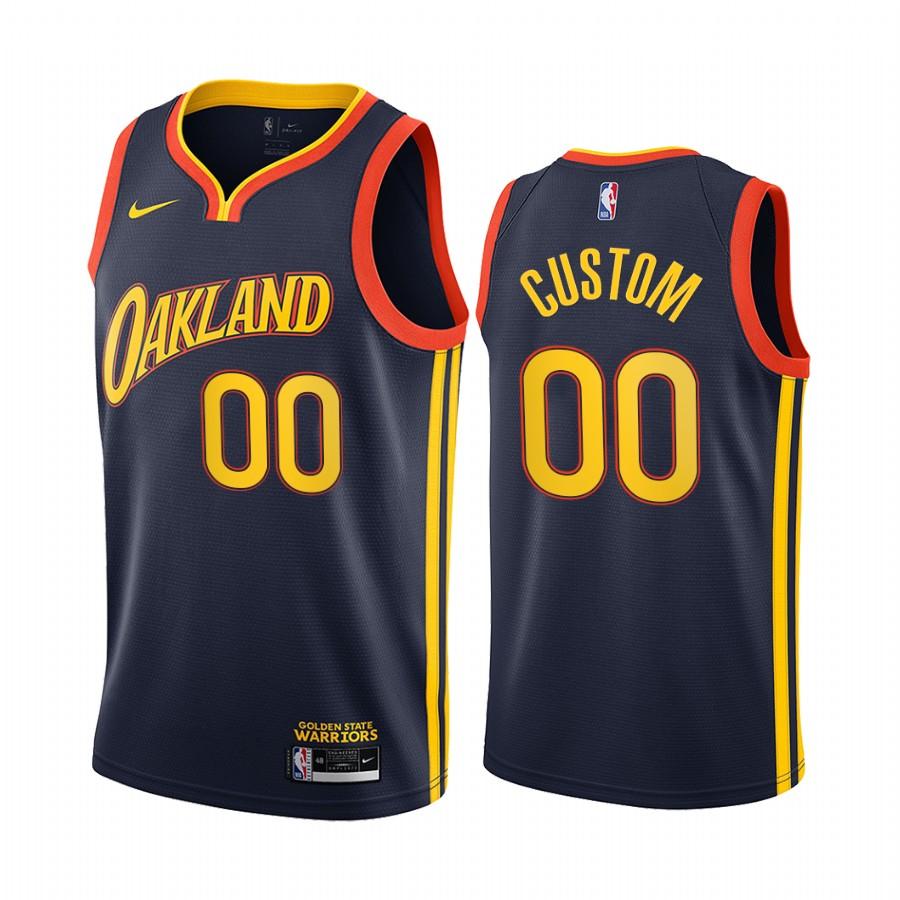 Nike Warriors Personalized Navy NBA Swingman 2020-21 City Edition Jersey