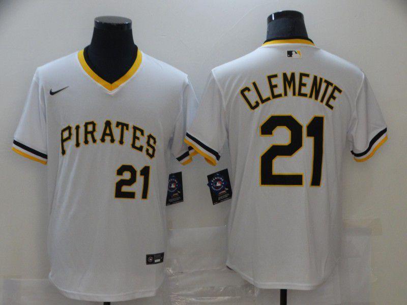 Men Pittsburgh Pirates Blank White Game 2021 Nike MLB Jersey
