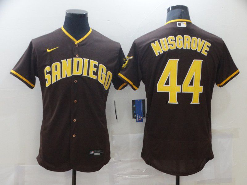 Men San Diego Padres 44 Musgrove brown Elite 2021 Nike MLB Jersey