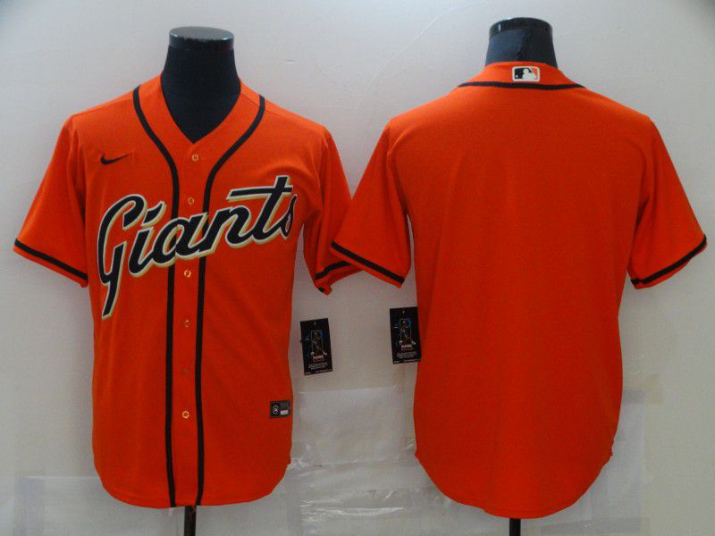 Men San Francisco Giants Blank Orange Game 2021 Nike MLB Jersey