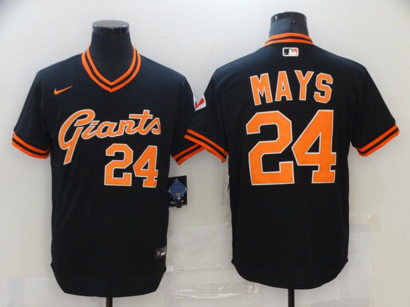 Men San Francisco Giants 24 Mays Black Game 2021 Nike MLB Jersey