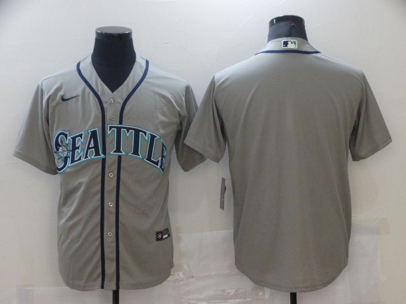 Men Seattle Mariners Blank Grey Game 2021 Nike MLB Jersey