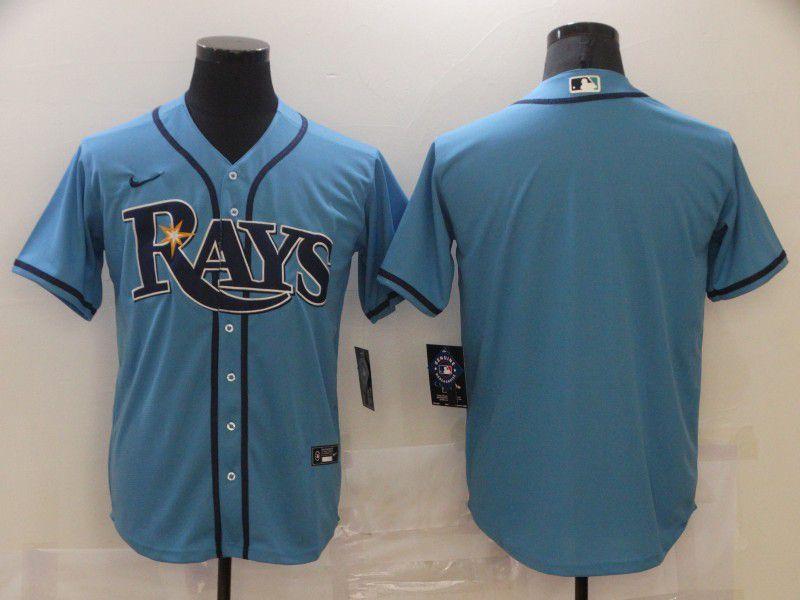Men Tampa Bay Rays Blank Light blue Game 2021 Nike MLB Jersey