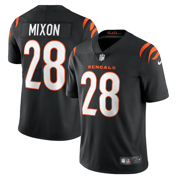 Men's Cincinnati Bengals #28 Joe Mixon 2021 New Black Vapor Untouchable Limited Stitched Jersey