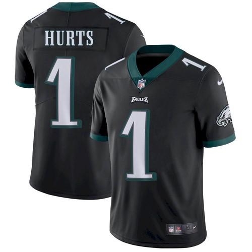 Men's Philadelphia Eagles #1 Jalen Hurts Black Vapor Untouchable Limited Stitched Jersey
