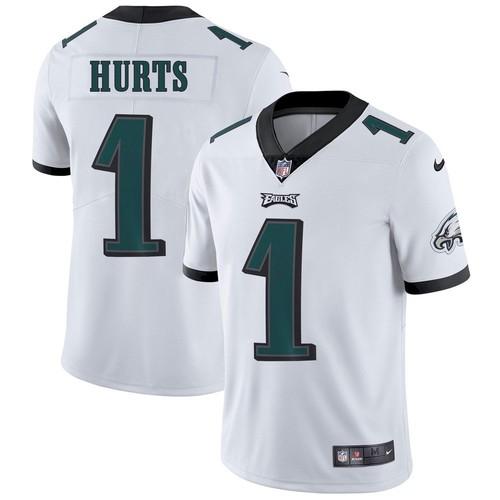 Men's Philadelphia Eagles #1 Jalen Hurts White Vapor Untouchable Limited Stitched Jersey