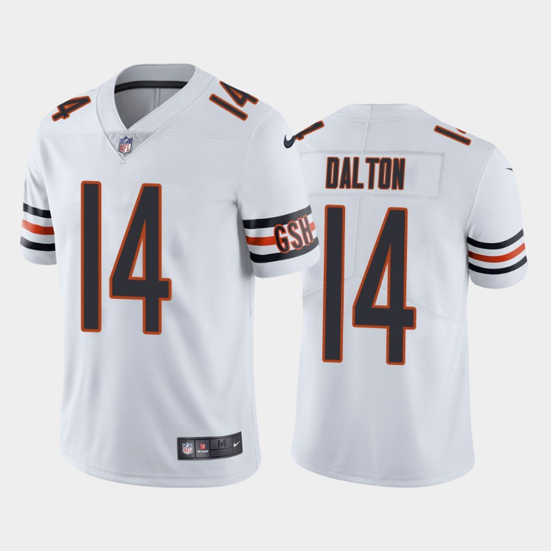Men's Chicago Bears #14 Andy Dalton White Vapor untouchable Limited Stitched Jersey