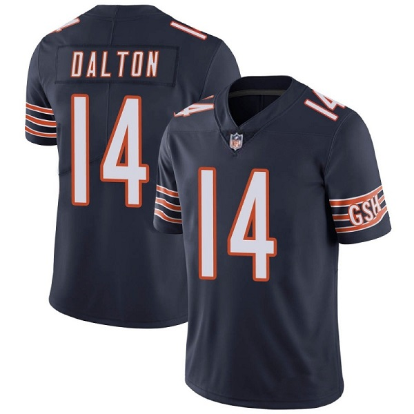 Men's Chicago Bears #14 Andy Dalton Navy Vapor untouchable Limited Stitched Jersey