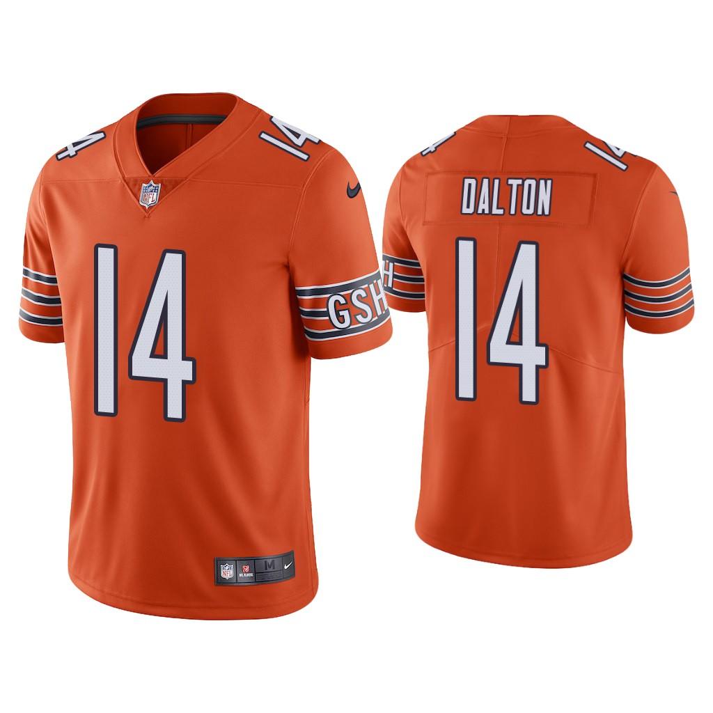 Men's Chicago Bears #14 Andy Dalton Orange Vapor untouchable Limited Stitched Jersey