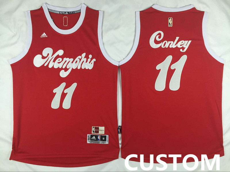 Custom NBA Memphis Grizzlies New Revolution 30 Swingman Red Jersey