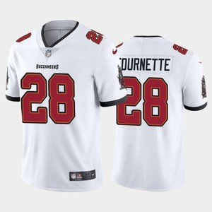 Men's Tampa Bay Buccaneers #28 Leonard Fournette New White Vapor Untouchable Limited Stitched Jersey