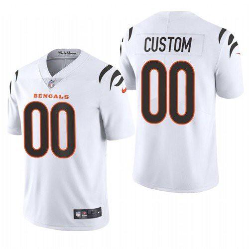 Men's Cincinnati Bengals Customized 2021 White Vapor Untouchable Limited Stitched Jersey