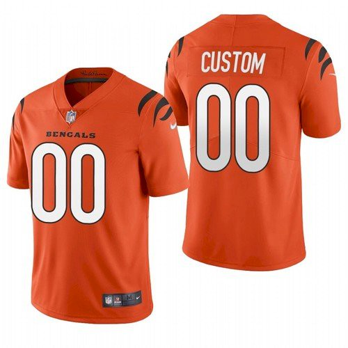 Men's Cincinnati Bengals Customized 2021 New Orange Vapor Untouchable Limited Stitched Jersey