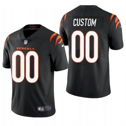 Men's Cincinnati Bengals Customized 2021 Black Vapor Untouchable Limited Stitched Jersey