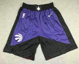 Men's toronto raptors purple with black nike swingman 2021 earned edition stitched shorts